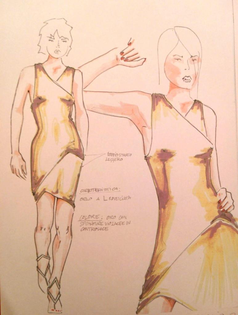 evening dress medina davide designer