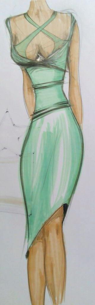 fashion sketch davide medina1