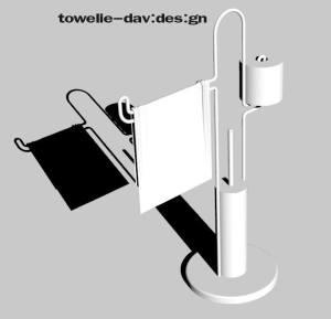 towel holder medina davide designer